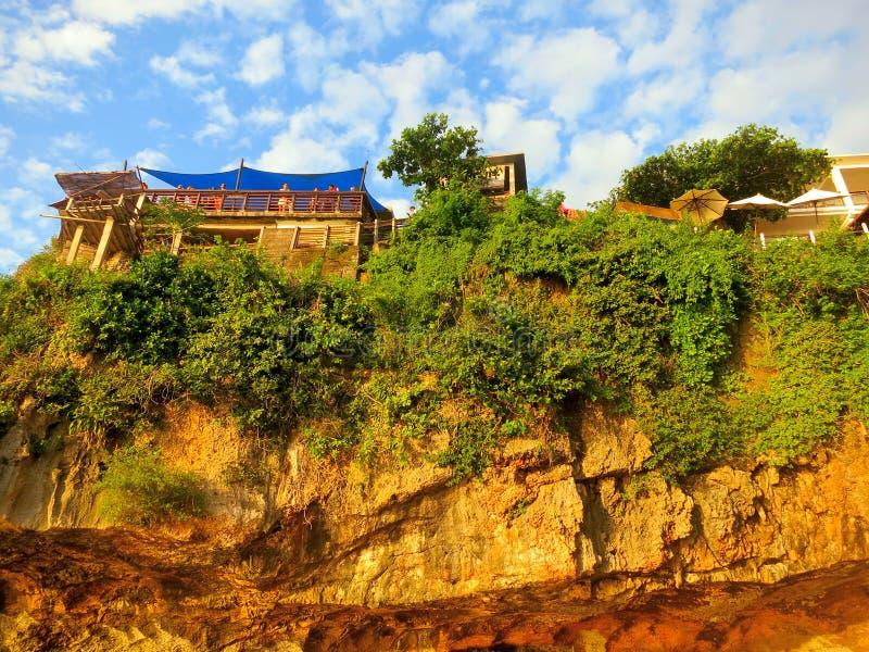 Cliff at Uluwatu beach, Bali royalty free stock photography