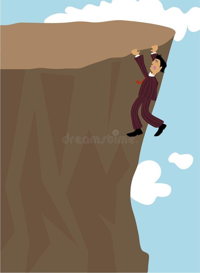 cliff wieszak ilustracja wektor