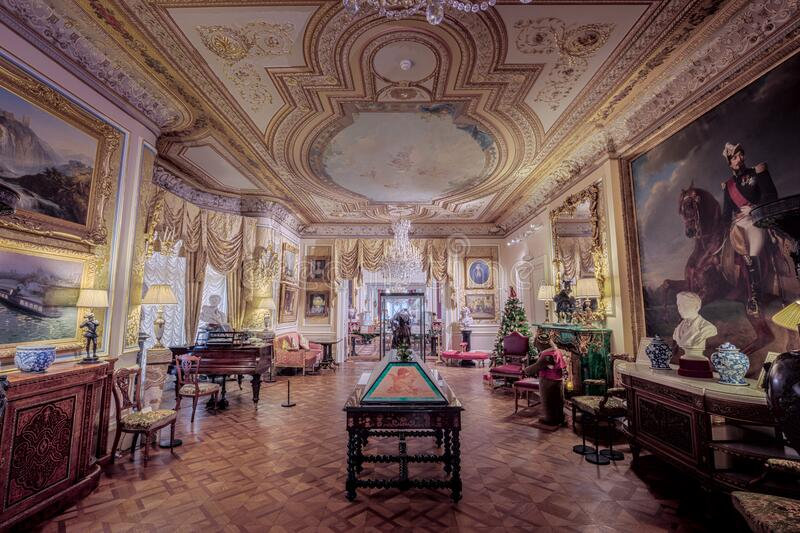 Cliffe Castle Great Drawing Room stock photo
