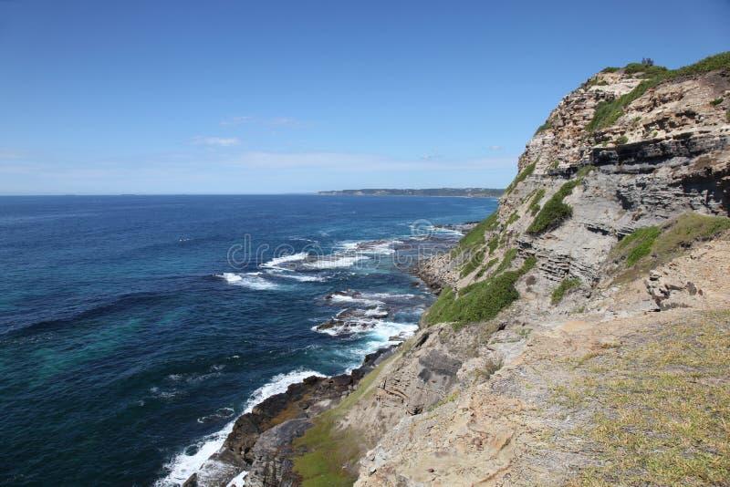 Cliffline Newcastle Australia immagini stock libere da diritti