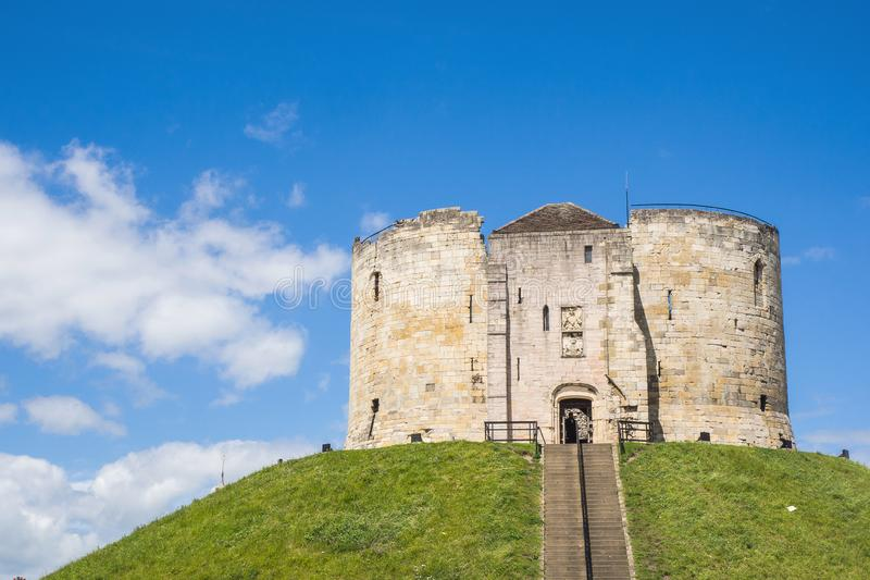 Clifford`s Tower is one of the best-loved landmarks in York. It`s set upon a mound which was originally built by William the Conqueror. There is plenty of stock images