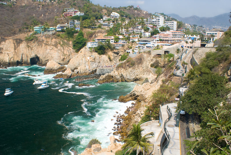 Download Cliffs of Acapulco stock photo. Image of acapulco, mountain - 5570518