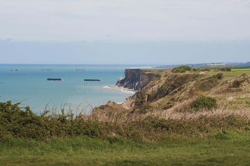 Download Cliffs Along The Coastline Of Normandy, France Stock Photo - Image of tourist, beautiful: 14247230
