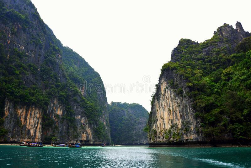 Cliffs along waterfront royalty free stock image