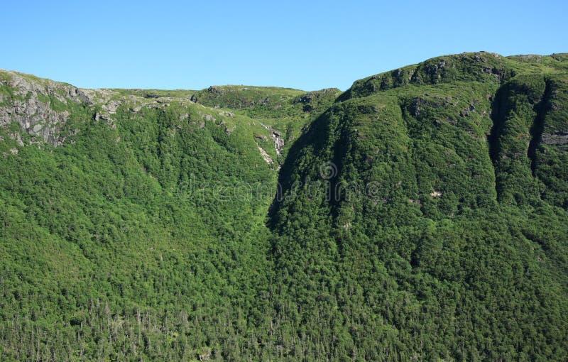 Cliffs Alongside Ferry Gulch royalty free stock photography