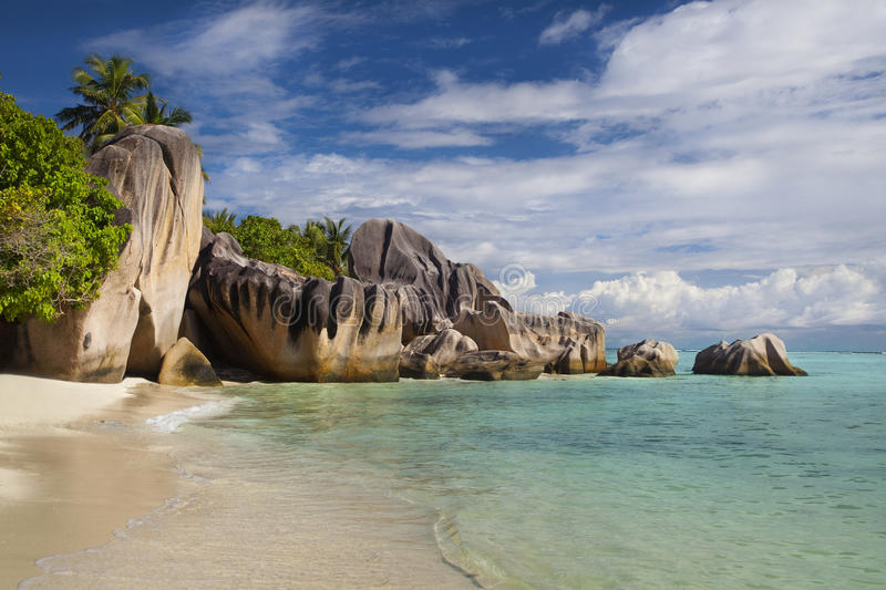 Download Cliffs At Anse Source D'Argent Stock Photo - Image of sand, lagoon: 39504284