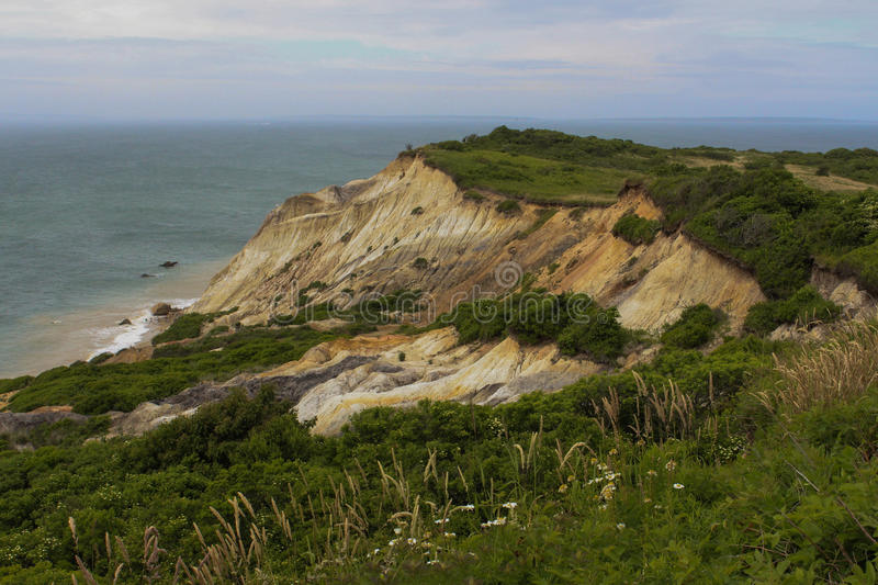 Cliffs at Aquinnah royalty free stock image