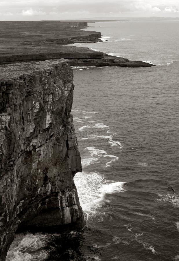 Cliffs on Aran Island. S on Atlantic Ocean stock images
