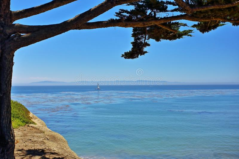Cliffs at the beach royalty free stock images