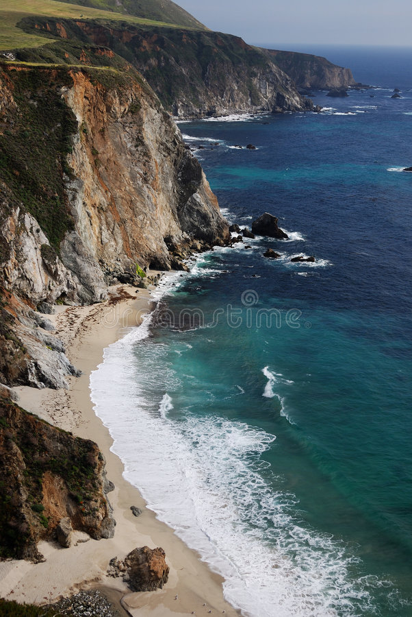 Cliffs of Big Sur royalty free stock photo