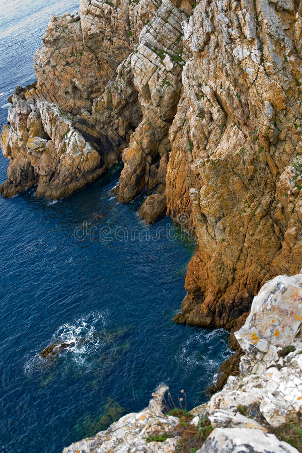Download Cliffs In The Brittany Coast, France Stock Photo - Image: 10988300