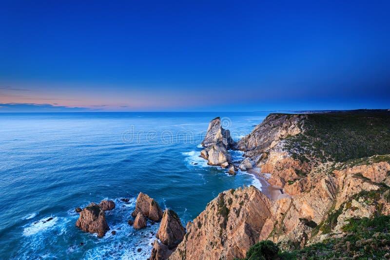 The cliffs of Cabo da Roca, Portugal. stock image