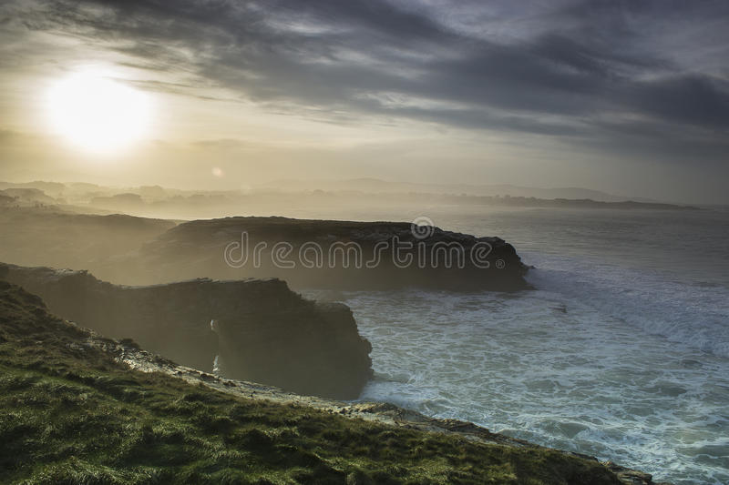 Cliffs of cathedrals stock images