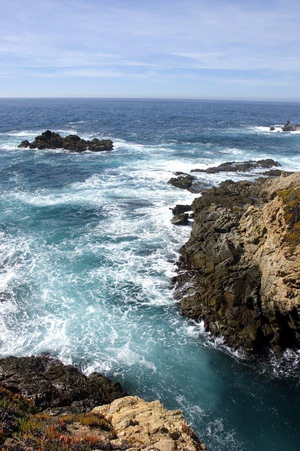 Cliffs on the coastline royalty free stock photos