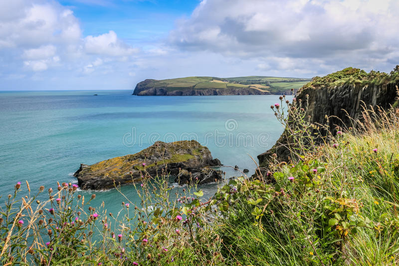 Cliffs and coastline. Taken in Newport, Pembrokeshire, Wales stock images