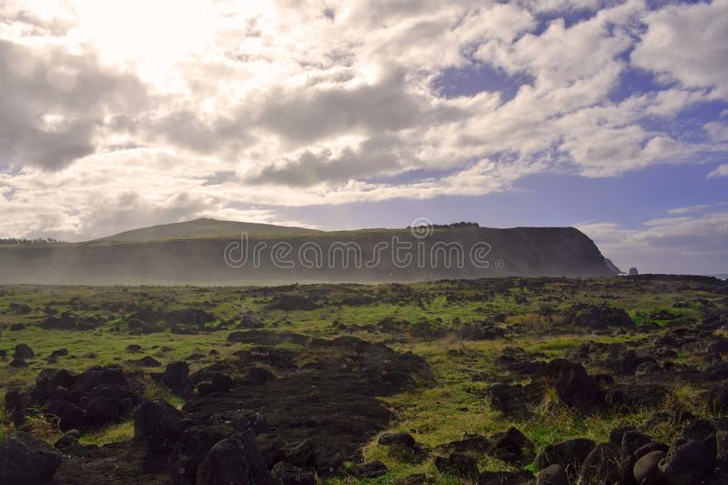 Cliffs of Easter Island royalty free stock photo