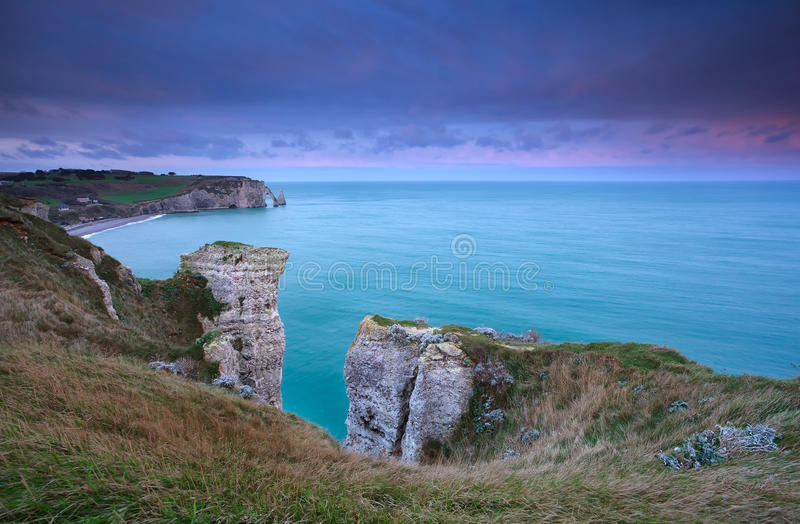 Download Cliffs In France During Sunrise Stock Photo - Image: 36492434