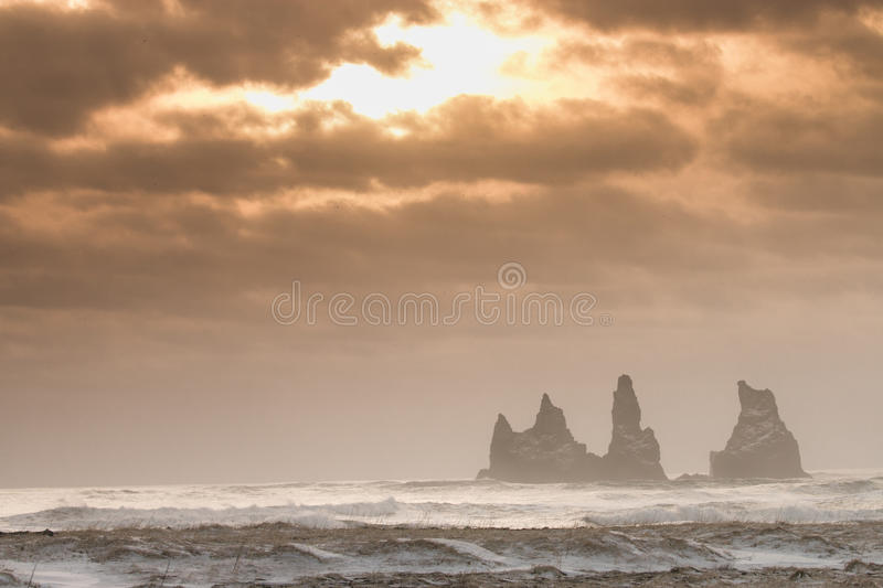 Cliffs of Iceland royalty free stock photo