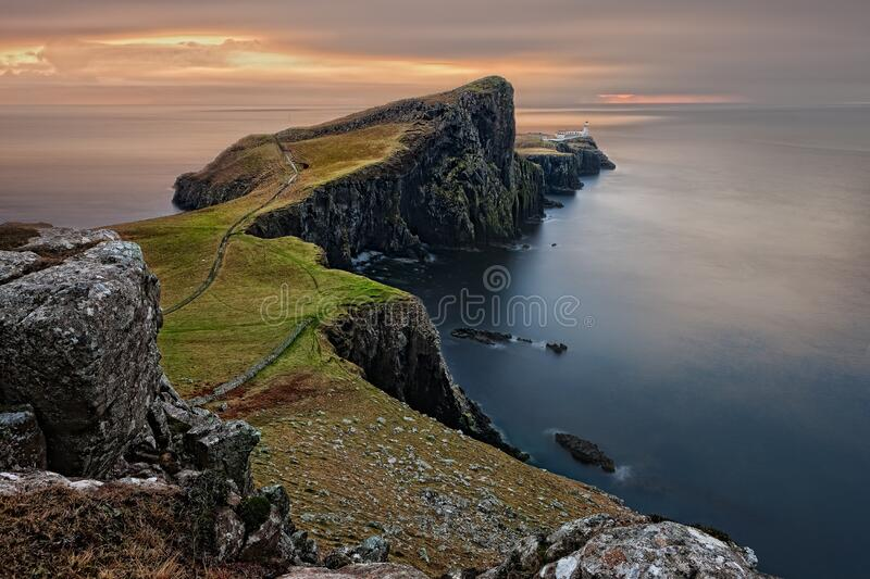 Cliffs on the Isle of Skye in Scotland royalty free stock photography