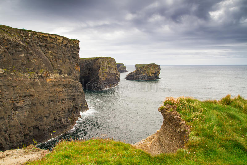 Cliffs of Kilkee in county Clare. Ireland stock photography