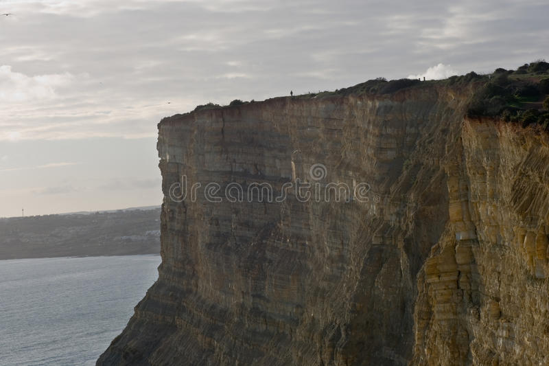 Cliffs Of Lagos In Portugal Stock Photography