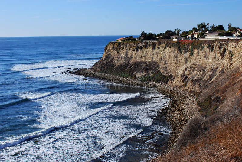 Cliffs of Lunada Cove royalty free stock photo
