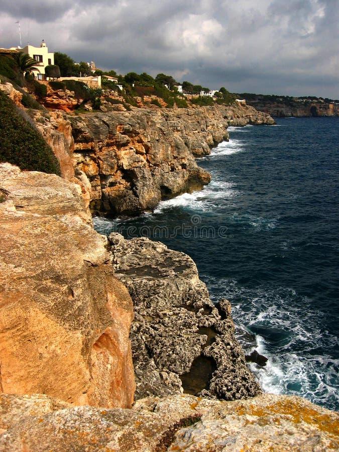Cliffs of Mallorca. Cliffs of Cala Pi, Mallorca island, in the Mediterranean Sea stock images