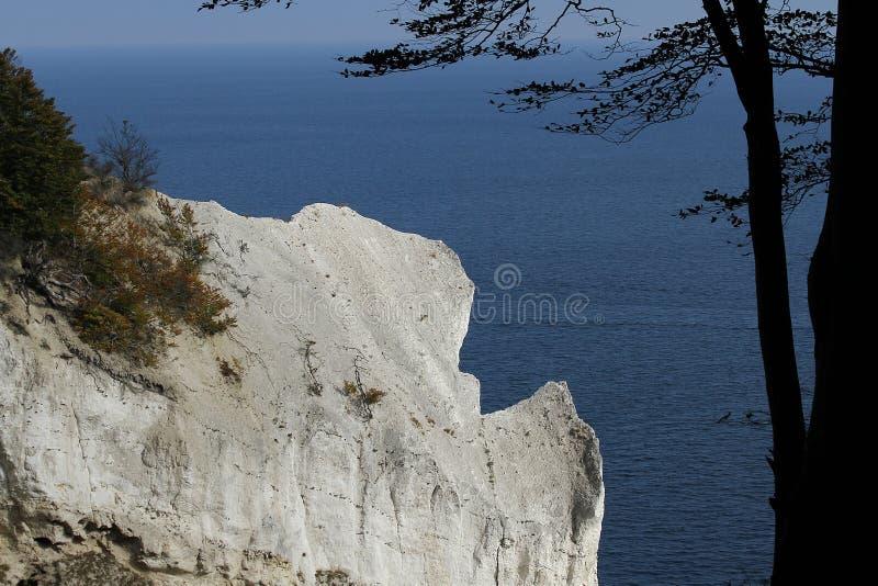 The Cliffs of Moen, Denmark stock images