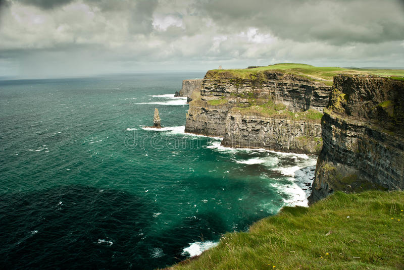 Download Cliffs of Moher stock image. Image of ocean, flowers - 26826867