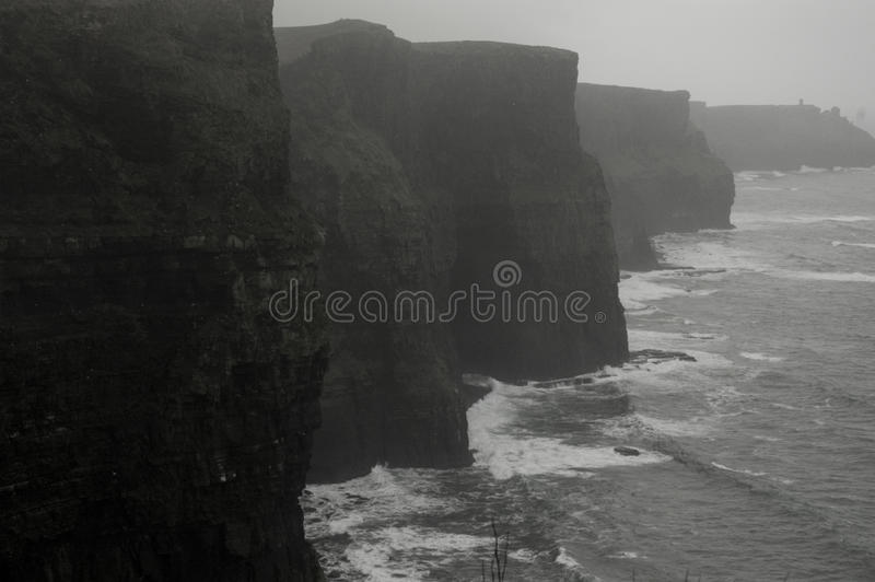 Cliffs of Moher. Cliff of Moher in Western Ireland. These stark, craggy cliffs are beaten by the Atlantic royalty free stock image