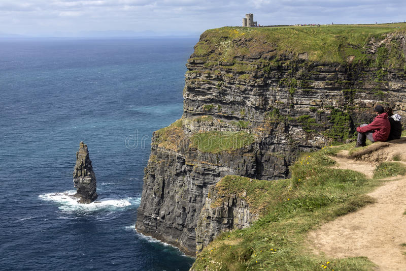 Cliffs of Moher - County Clare - Ireland royalty free stock image