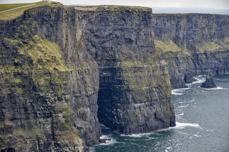 The Cliffs of Moher facing South royalty free stock image