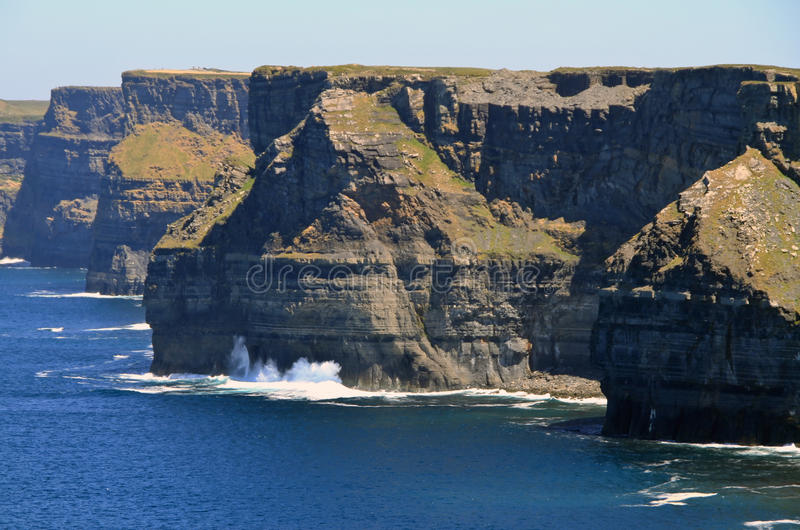 Download Cliffs of Moher scenery stock photo. Image of beach, cliff - 14900630