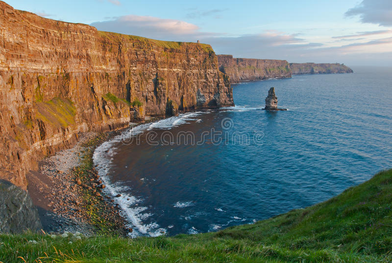 Download Cliffs of Moher at sunset stock photo. Image of exposed - 20671316