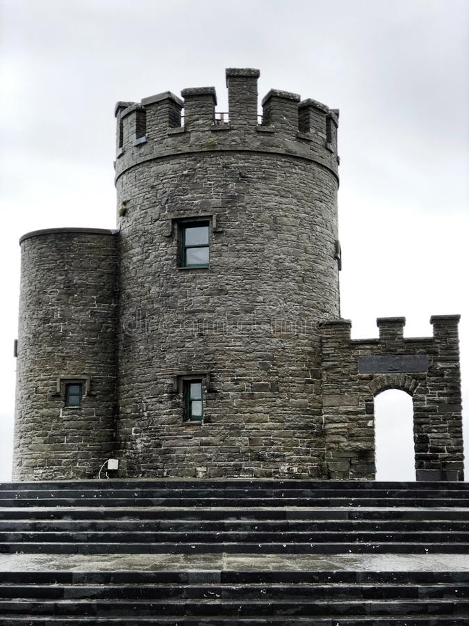 Cliffs of Moher tower royalty free stock image