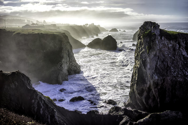 The cliffs near Bodega Bay royalty free stock images