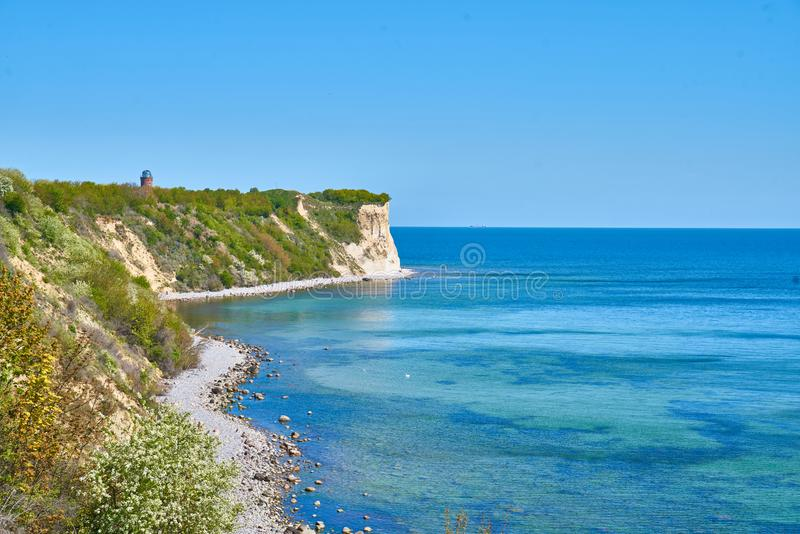 Cliffs near Kap Arkona, Germany stock images