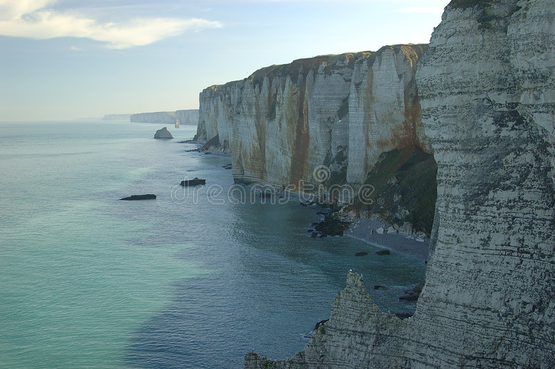 Download Cliffs in the Normandy stock image. Image of water, blue - 458951