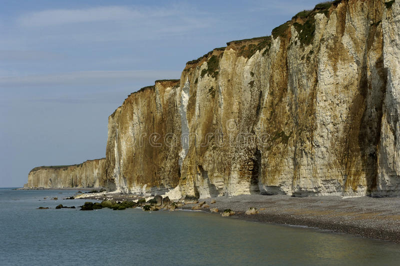 Cliffs in Normandy. France, cliffs in coast of Normandy stock images