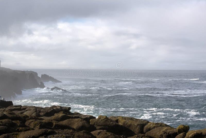 Cliffs off the Oregon Coast stock photography