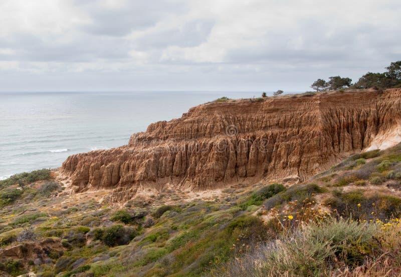 Cliffs off Torrey Pines state park stock photos
