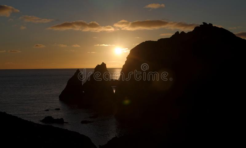 Cliffs at Reykjanesviti Iceland. Atlantic, ocean, beach, cloud, -, sky, coastline, dusk, environment, famous, place, geology, horizontal, journey, landscape royalty free stock images