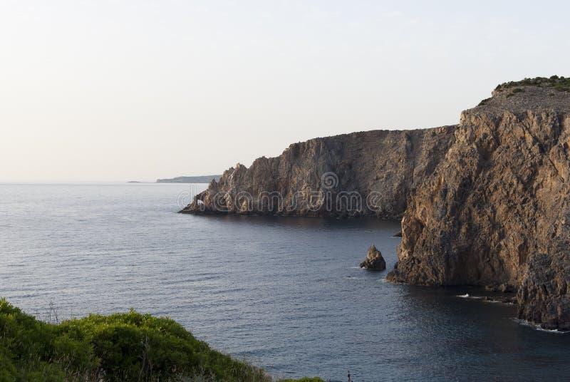 Cliffs in Sardinia stock images