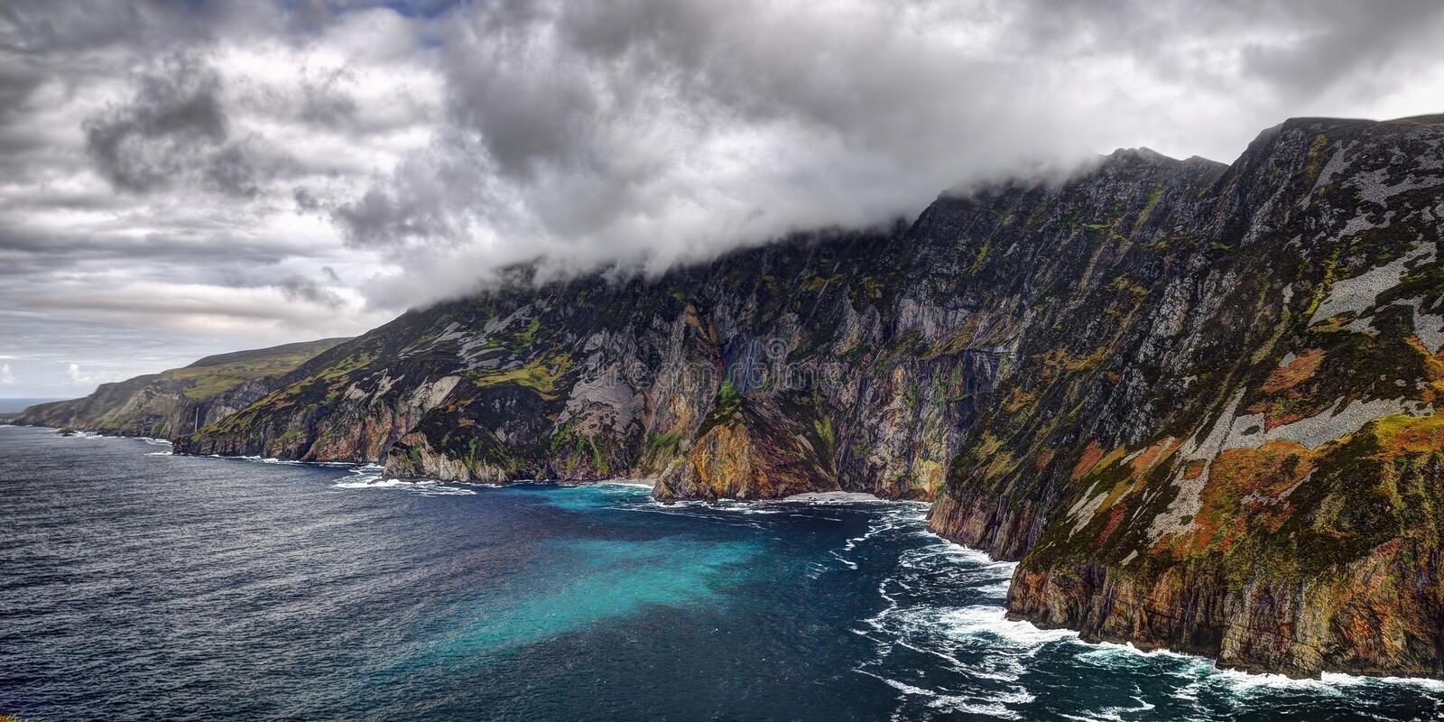 Cliffs of Slieve League. In County Donegal, Ireland stock photos