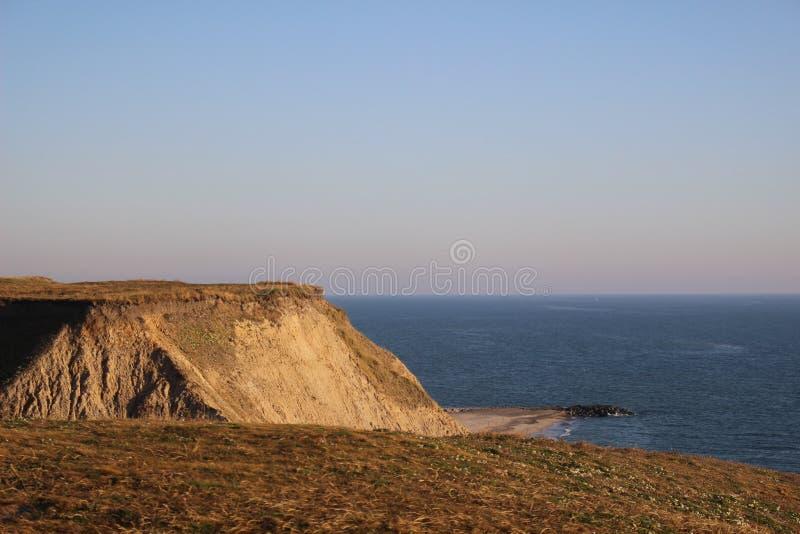Cliffs thorsminde denmark. Photo from the cliffs in thorsminde. Denmark 2018 stock photo