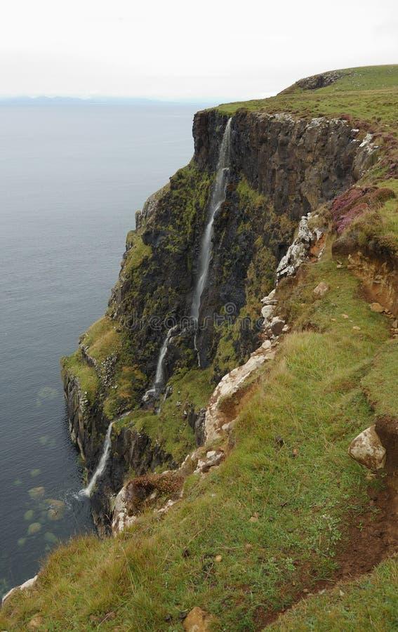 Cliffs at Waternish. On the northwestern point of Skye, Scotland stock photos