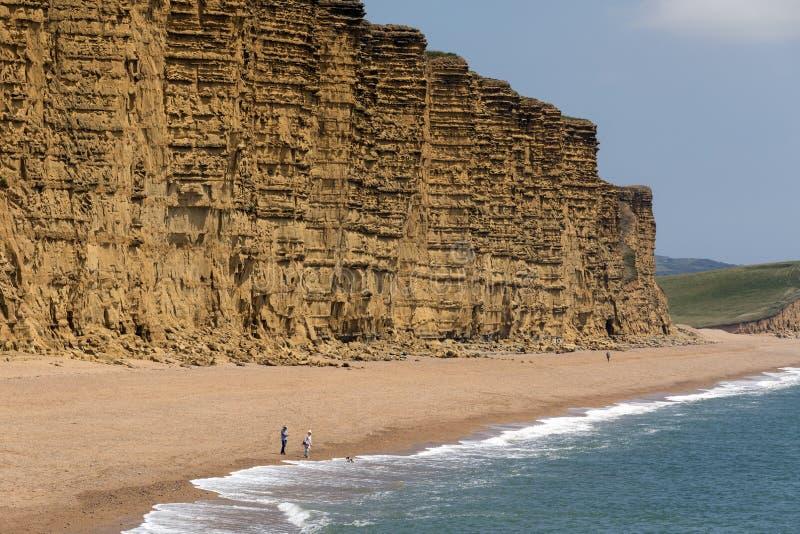 Cliffs at West Bay - Jurassic Coast - Dorset - England stock photography
