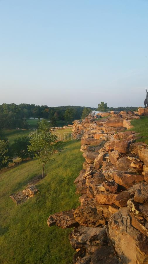 Cliffside arkivfoto