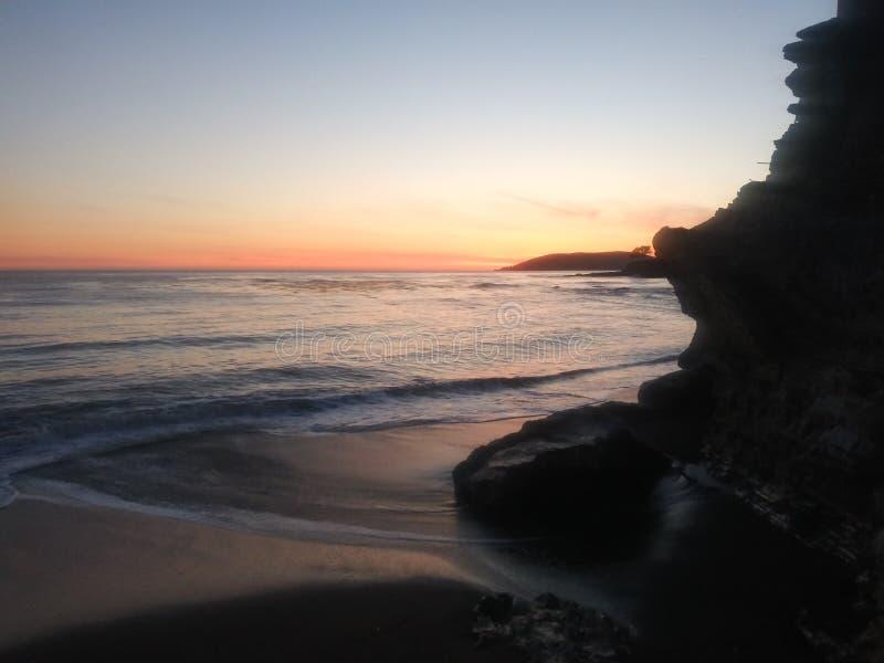 Cliffside pismo beach cali stock image