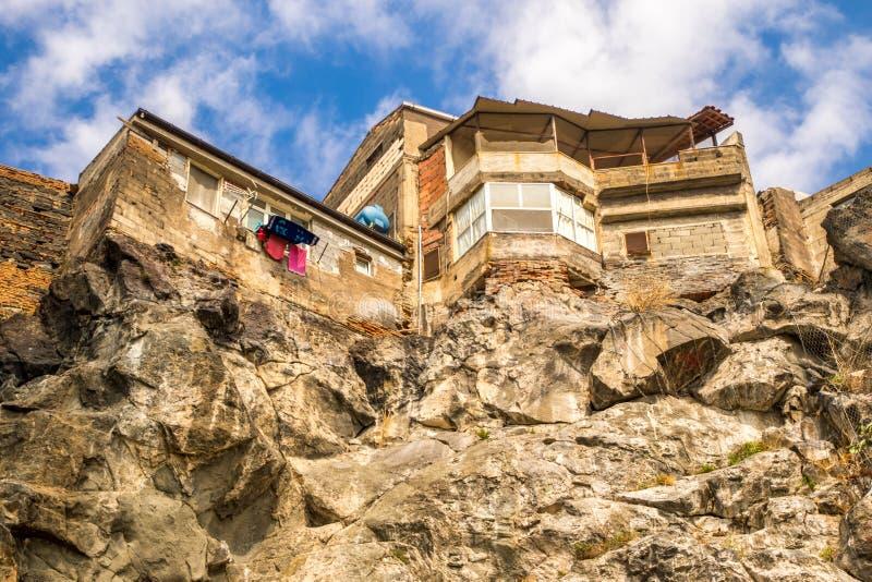 Clifftop-Häuser stockfoto